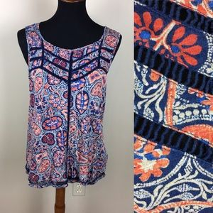 Lucky brand sleeveless blouse size L